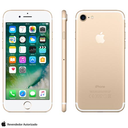 Iphone 7 Dourado Com Tela de 4,7, 4g, 32 Gb e Camera de 12 Mp - Mn902bz/a - Aemn902bzadrd Bivolt
